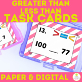Greater Than Less Then Task Cards | 1st Grade Math Number