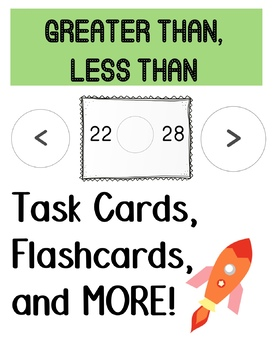 Greater Than, Less Than Task Cards