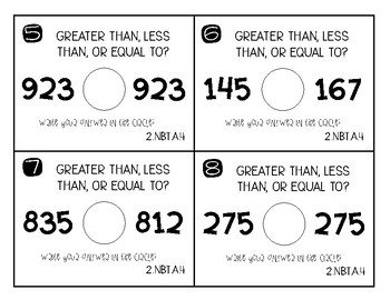 Greater Than/Less Than Task Cards