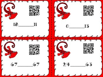 Greater Than Less Than Task Cards With QR Code