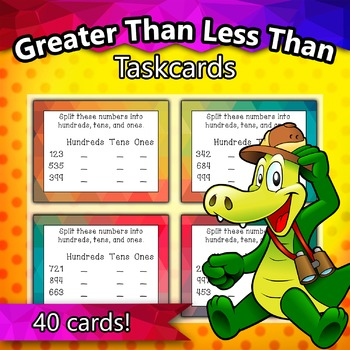 Greater Than Less Than Taskcards