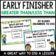 Greater Than Less Than (Tens and Ones up to 100) Early Finisher PPT