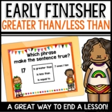Greater Than Less Than (Tens and ones) Early Finisher PPT