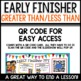 Early Finishers Activities | Greater Than Less Than (Tens and ones)