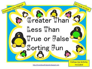 Greater Than Less Than True or False Sorting Fun (Common C