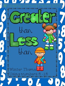 Greater Than / Less Than Winter Themed Using Numbers 1-10