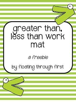 Greater Than, Less Than Work Mat and Game
