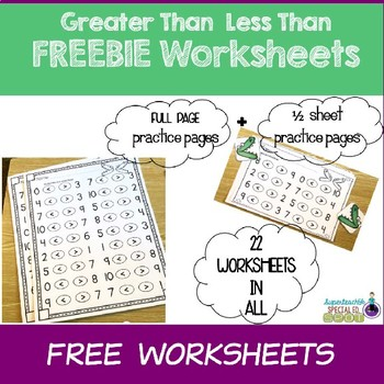 This is a photo of Clever Free Printable Greater Than Less Than Worksheets
