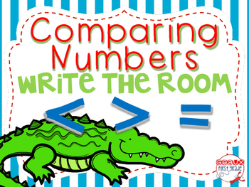 Greater Than, Less Than Write the Room (comparing numbers)