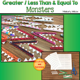 Greater Than / Less Than and Equal To Monsters: Math Art Project