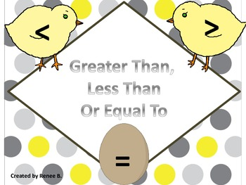 Greater Than, Less Than or Equal To