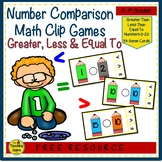 Greater Than, Less Than or Equal To Math Game {FREE}