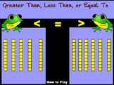Greater Than Less Than or Equal To With Base 10 Blocks 10s Flip Chart Game