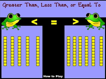 Greater Than Less Than or Equal To With Base 10 Blocks 10s