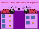 Greater Than Less Than or Equal To With Base 10 Blocks 1s