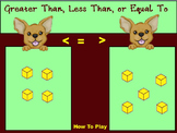 Greater Than Less Than or Equal To With Base 10 Blocks 1s flip chart Game