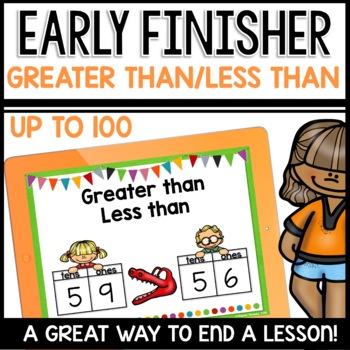 Greater Than Less Than Practice (up to 100) | Early Finisher