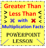 Greater Than Less Than with Multiplication Facts (PowerPoint Lesson)