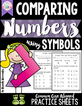 Greater Than/ Less Than:Comparing Numbers Practice Sheets