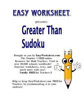 Greater Than Sudoku -- Practice inequalities with sudoku!
