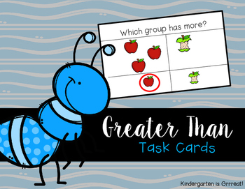 Greater Than - Task Cards