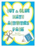 Cut & Glue Math Activities Pack