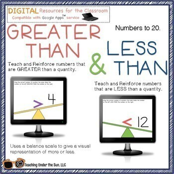 Greater Than and Less Than Numbers,Teach, Practice, Math, Digital, Google