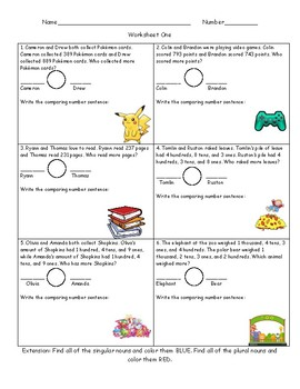 Greater Than And Less Than Word Problems Packet By Martha Watts Tpt