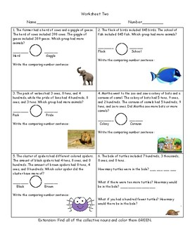 Greater Than and Less Than Word Problems Packet