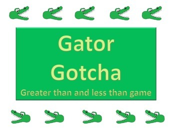 Greater Than and less than game (Gator Gotcha)