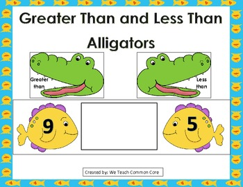 Greater Than or Less Than Alligators Math Center Activity