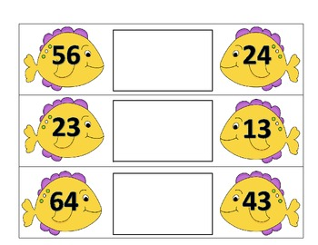 Greater Than or Less Than Double Digits Alligator Math Center Activity