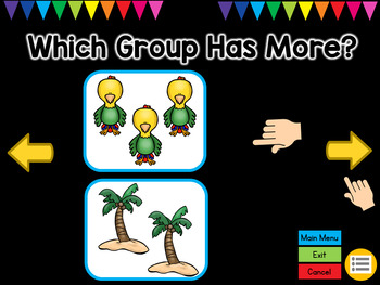 Greater Than or Less Than POWERPOINT Game