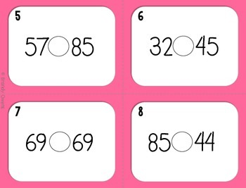 Greater Than or Less Than SCOOT! Task Cards:  1.NBT.3