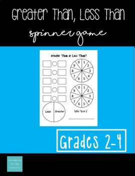 Greater Than or Less Than Spinner Game!