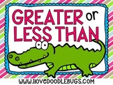 Greater Than or Less Than Unit {center cards, printables, sheets}