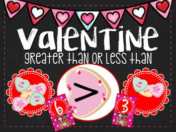 Greater Than or Less Than Valentine Math