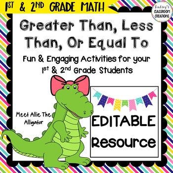 Greater Than, Less Than, Equal To Math Center 1st and 2nd Grade Math Activity