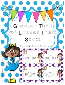 Greater Than or Lesser Than Scoot For First Grade