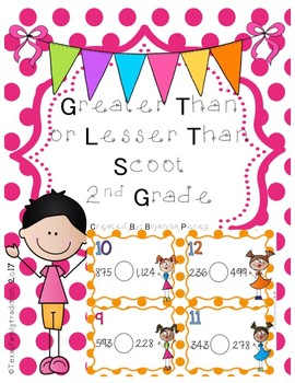 Greater Than or Lesser Than Scoot for 2nd Grade