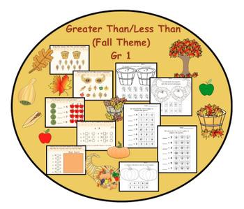 Greater Than/Less Than  (Fall Theme)  Gr. 1