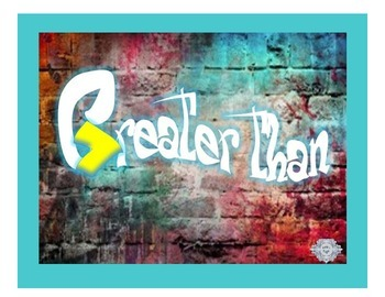 Greater Than/Less Than Graffiti Poster Set