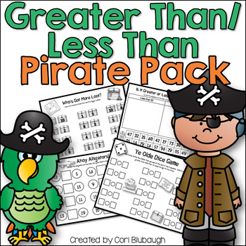 Greater Than/Less Than Pirate Pack