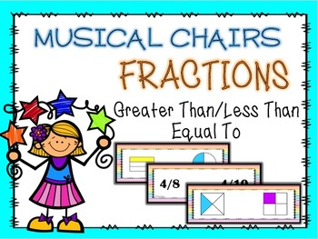 Greater Than/Less Than/Equal To FRACTIONS Musical Chairs GAME