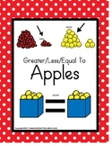 Greater Than/Less Than/Equal To Apple Counting {Kindergarte/Special Education}