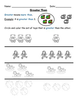Greater Than/Less than Worksheets