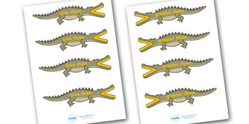 Greater and Less than Crocodiles Small