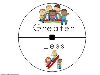 Greater or Less Game-1-10 uses rekenreks, dominoes,tens fr