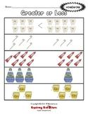 Greater or Less Than - Dental Health Theme