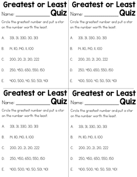 Greater or Less Than Practice Worksheets
